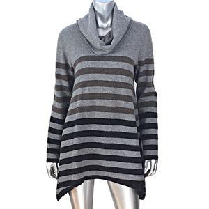 Saks Fifth Avenue Cashmere Striped Sweater Sz XL